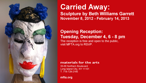 Opening Reception Email Flyer - Carried Away Sculpture by Beth Williams Garrett