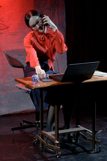 A scene from No Escape: La Telefonista/ The Switchboard Operator