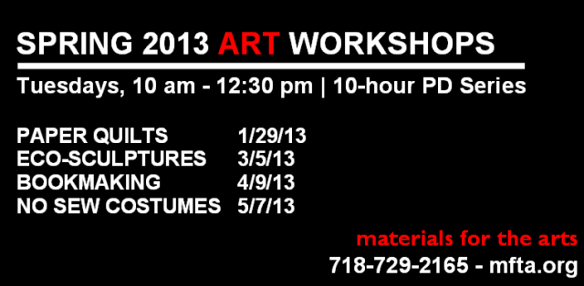 Spring 2013 Art Workshops