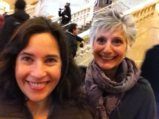 Harriet & Marna at Grand Central Station